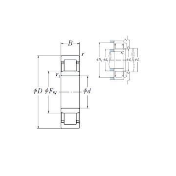 NU2216 ET NSK Cylindrical Roller Bearings