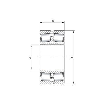 24034W33 ISO Spherical Roller Bearings