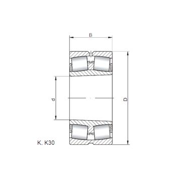 22212 KW33 ISO Spherical Roller Bearings