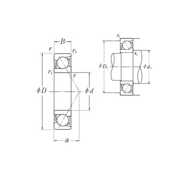 7017 C NSK Angular Contact Ball Bearings