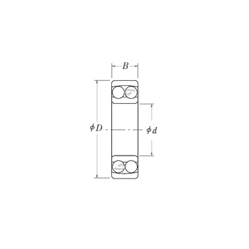 NMJ1/2 RHP Self Aligning Ball Bearings