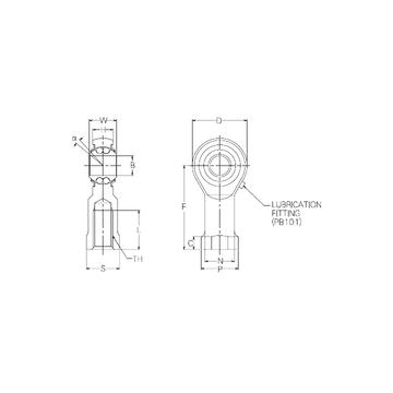 PBR8FN NMB Self Aligning Ball Bearings