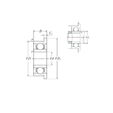 MF72 ISO Deep Groove Ball Bearings