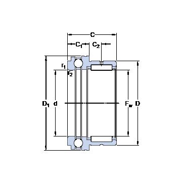 NKX 20 SKF Cylindrical Roller Bearings