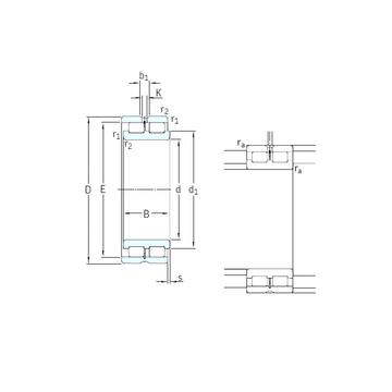 NNCL4880CV SKF Cylindrical Roller Bearings