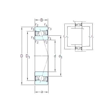 HB60 /S/NS 7CE3 SNFA Angular Contact Ball Bearings