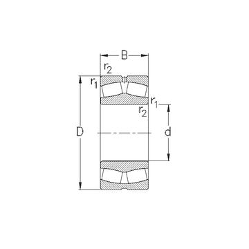 24038-MB-W33 NKE Spherical Roller Bearings
