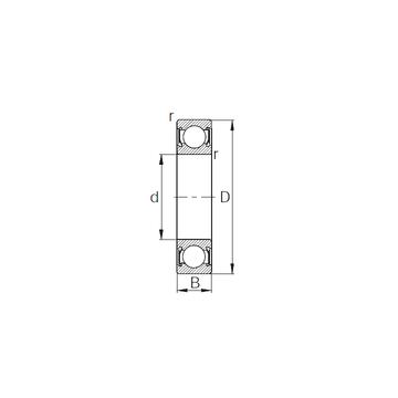 R22-2RS CYSD Deep Groove Ball Bearings