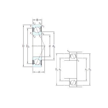 E 208 /S/NS 7CE1 SNFA Angular Contact Ball Bearings
