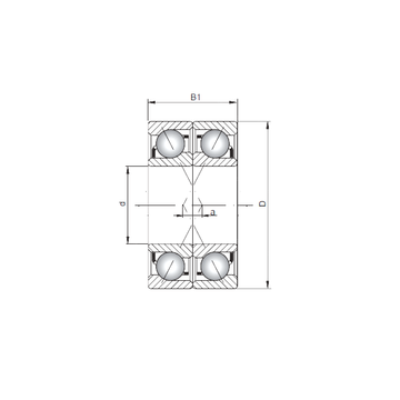 7317 A-UX CX Angular Contact Ball Bearings #1 small image