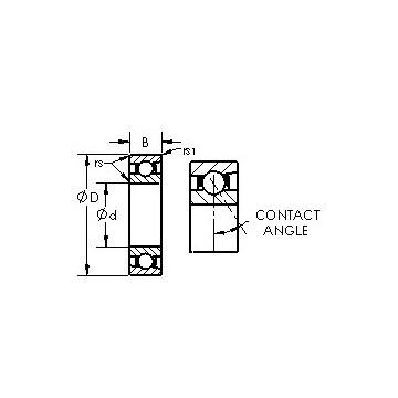 7222C AST Angular Contact Ball Bearings