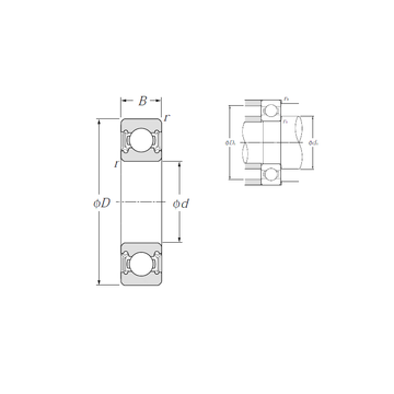 6806LLU NTN Deep Groove Ball Bearings