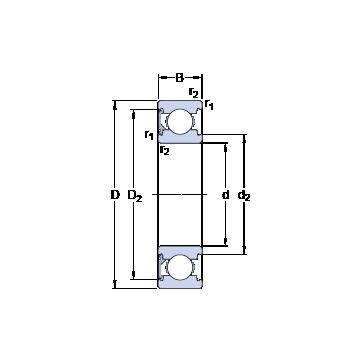 6303-RSH SKF Deep Groove Ball Bearings